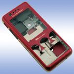 Корпус для Sony Ericsson W660 Red - Original
